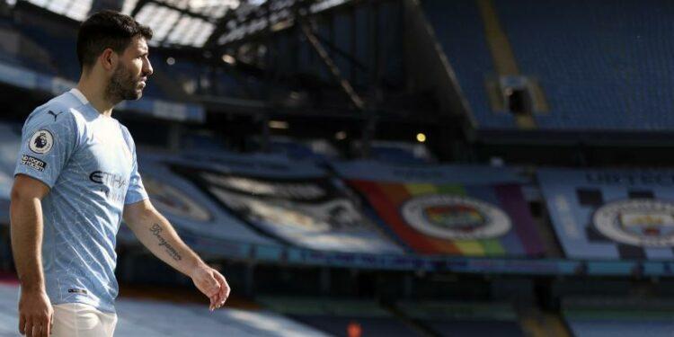 Penyerang Manchester City, Sergio Aguero.