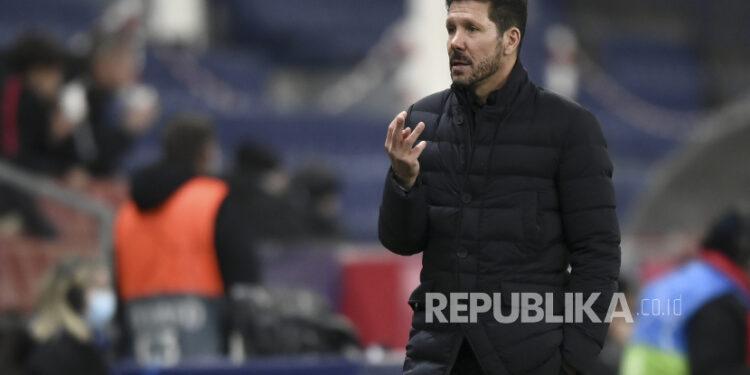 Pelatih kepala Atletico Madrid Diego Simeone