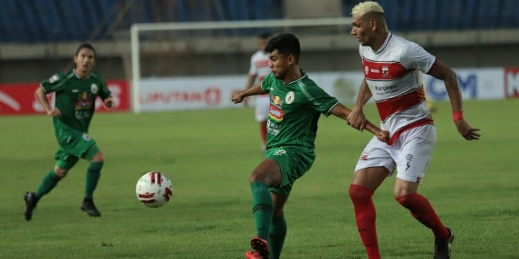 Tendangan bebas Jaimerson bawa Madura United kalahkan PSS Sleman 2-1