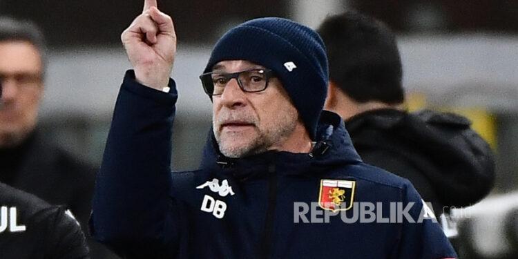 Pelatih Genoa Davide Ballardini.