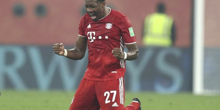 Pemain belakang Bayern Muenchen David Alaba.