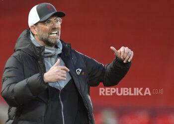 Manajer Liverpool Juergen Klopp. Klopp Minta Pemain Liverpool Waspadai Tren Positif Newcastle