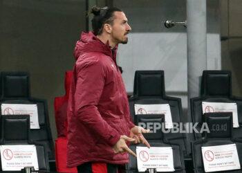 Penyerang AC Milan Zlatan Ibrahimovic.