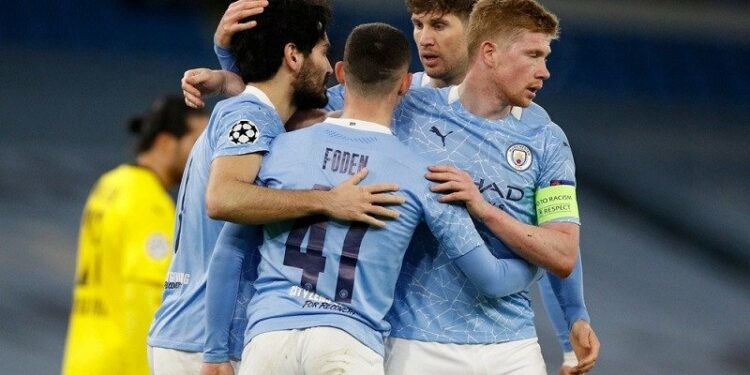Manchester City menangi leg pertama kontra Dortmund 2-1