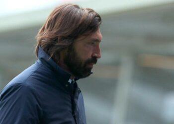 Ekspresi Pelatih Juventus, Andrea Pirlo usai timnya dikalahkan Atalanta.