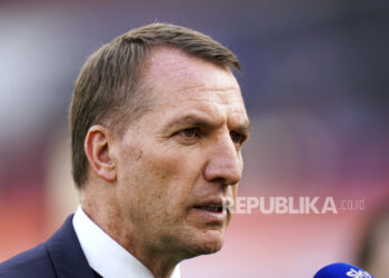 Pelatih Leicester City, Brendan Rodgers.
