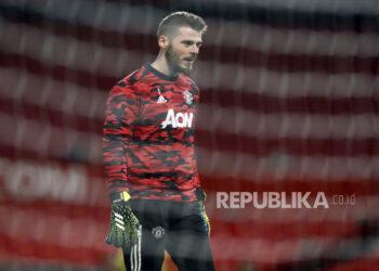 Penjaga gawang Manchester United David de Gea.