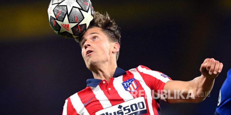 Marcos Llorente sukses mencetak gol kemenangan 1-0, saat Atletico Madrid berhadapan dengan Elche, Sabtu (1/5).