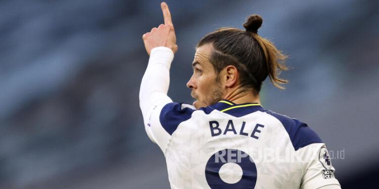 Gelandang Tottenham Hotspur pinjaman dari Real Madrid, Gareth Bale.