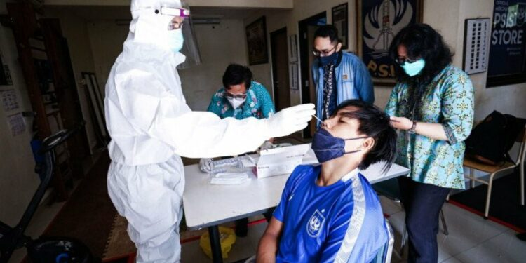 Pemain PSIS jalani tes antigen sebelum latihan perdana