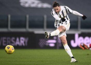 Gelandang Juventus Adrien Rabiot.