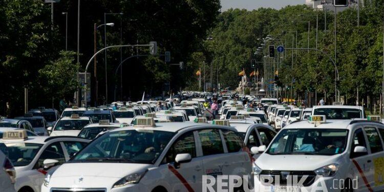 Suasana Kota Madrid, Spanyol, beberapa waktu lalu.