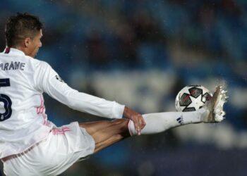 Pemain Real Madrid Raphael Varane