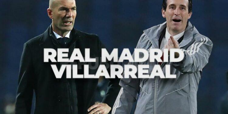 Pelatih Real Madrid Zinedine Zidane (kiri) akan beradu strategi dengan pelatih Villarreal Unai Emery dalam laga terakhir La Liga musim 2020/2021.