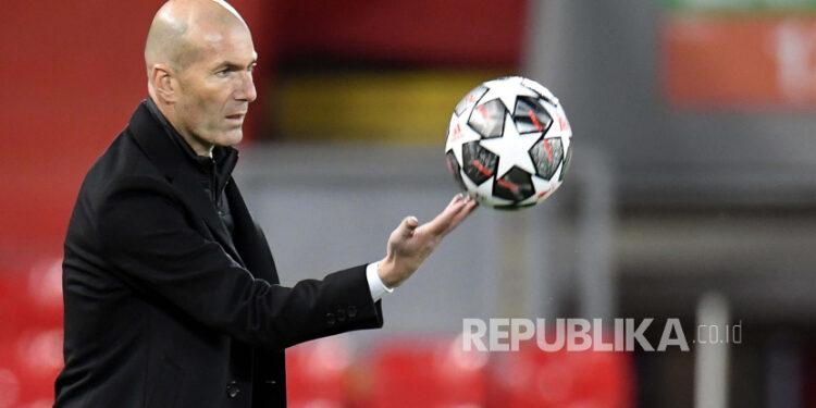 Pelatih Real Madrid Zinedine Zidane.