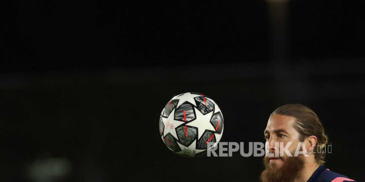 Bek veteran Real Madrid Sergio Ramos.