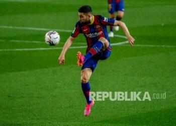 Pemain Barcelona Jordi Alba.