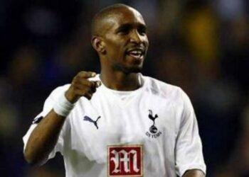 Jermain Defoe saat masih membela Tottenham Hotspur.