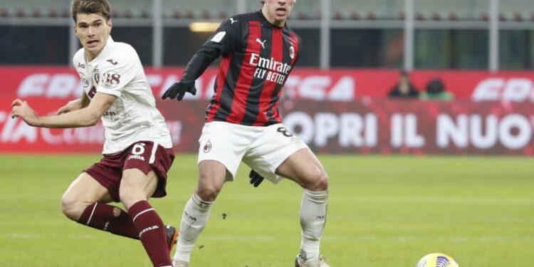 Gelandang AC Milan Sandro Tonali.