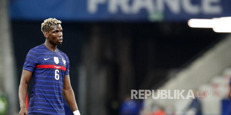 Gelandang Manchester United dan timnas Prancis, Paul Pogba.