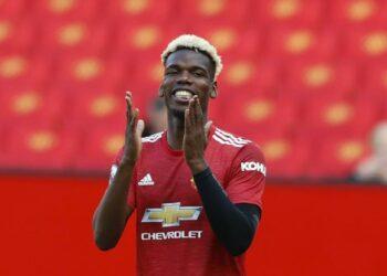 Reaksi Paul Pogba dari Manchester United.
