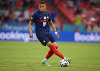 Kylian Mbappe dari Paris Saint-Germain.