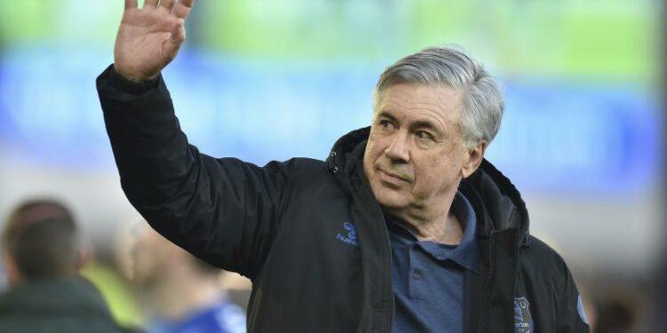 Pelatih Everton Carlo Ancelotti.
