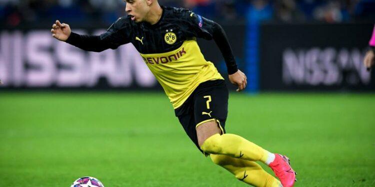 Gelandang muda Borussia Dortmund Jadon Sancho.