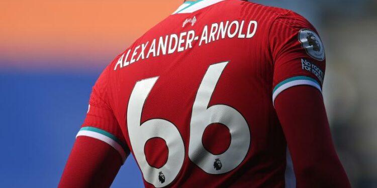 Trent Alexander-Arnold dari Liverpool.