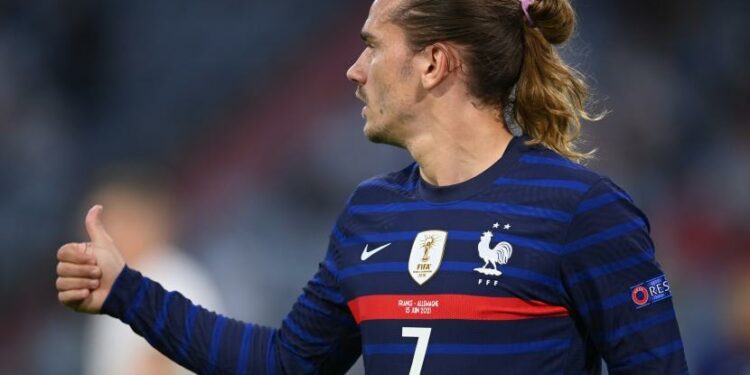 Striker timnas Prancis dan Barcelona, Antoine Griezmann.