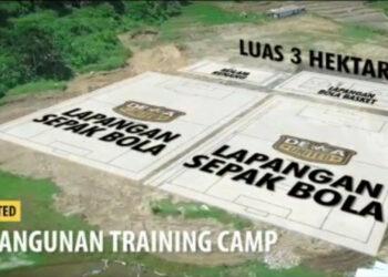 Dewa United builds an international standard training field in Bogor