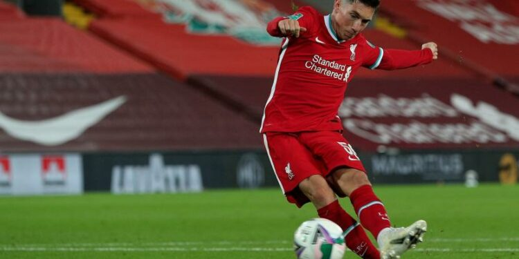 Pemain sayap Liverpool, Harry Wilson.