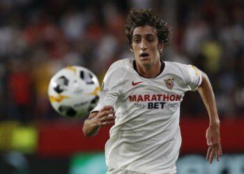 Pemain muda Sevilla Bryan Gil yang kini pindah ke Tottenham Hotspur.