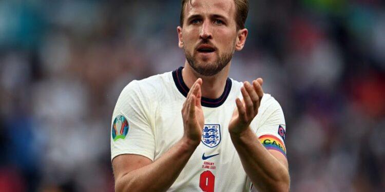 Striker Tottenham Hotspur dan timnas Inggris Harry Kane.