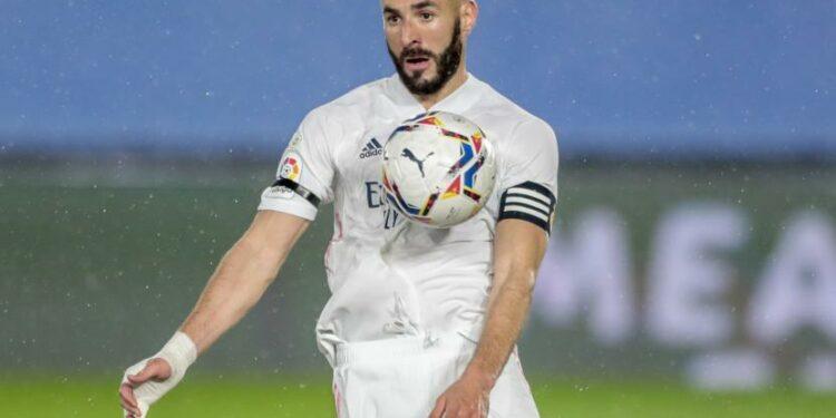 Karim Benzema dari Real Madrid.