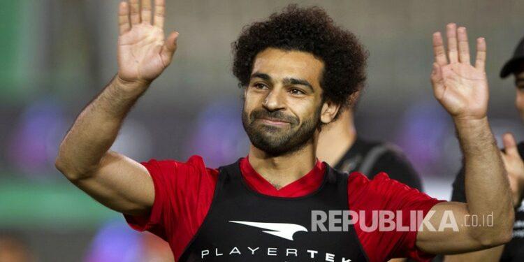 Pemain sepak  Mesir dan striker bintang Liverpool, Mohammed Salah