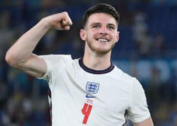 Declan Rice dari West Ham yang membela timnas Inggris.