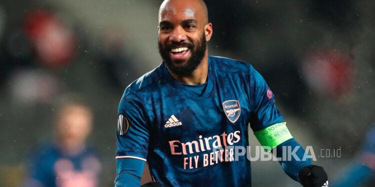 Striker Arsenal Alexandre Lacazette.