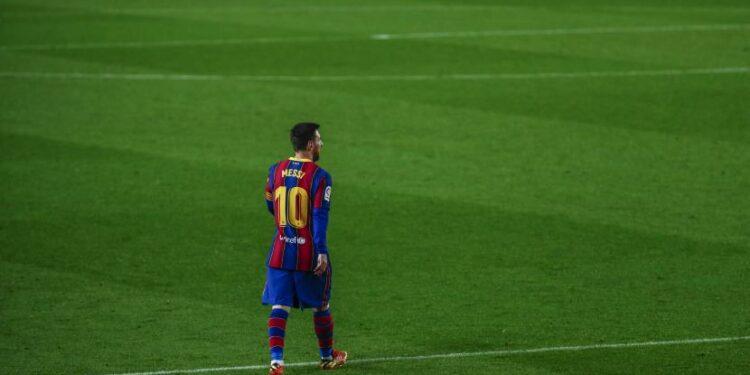 Lionel Messi saat bermain memperkuat Barcelona dengan nomor punggung 10.