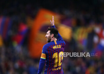 Lionel Messi while playing for FC Barcelona.