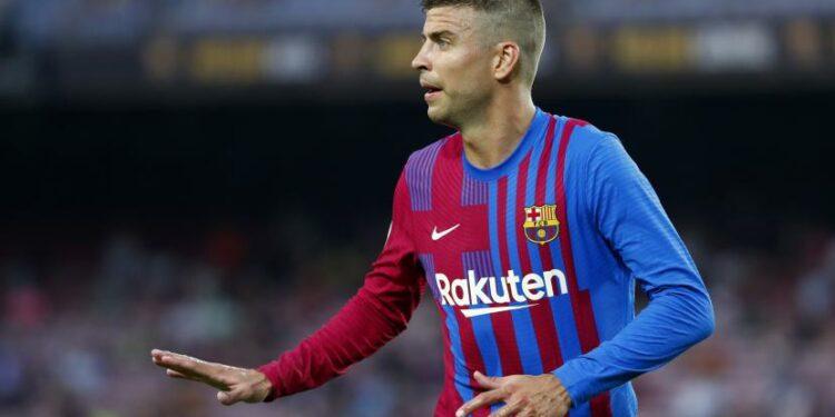 Pemain belakang Barcelona, Gerard Pique.
