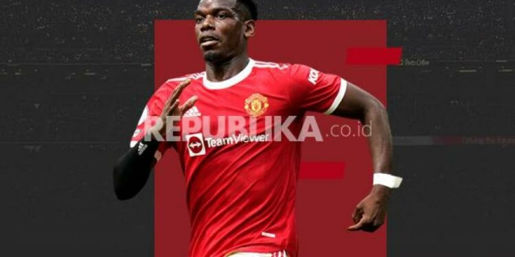 Gelandang Manchester United Paul Pogba.