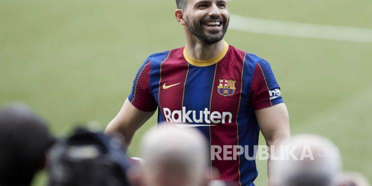 Striker Barcelona asal Argentina, Sergio Kun Aguero.