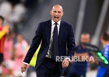 Pelatih Juventus, Massimiliano Allegri.
