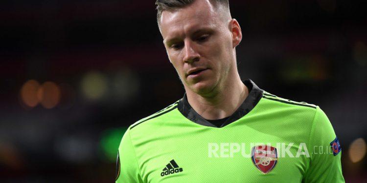 Penjaga gawang Arsenal Bernd Leno.
