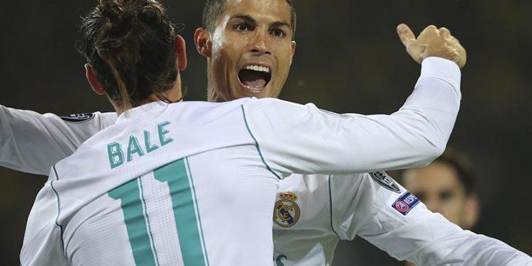 Cristiano Ronaldo (kanan) dan Gareth Bale saat masih membela Real Madrid.