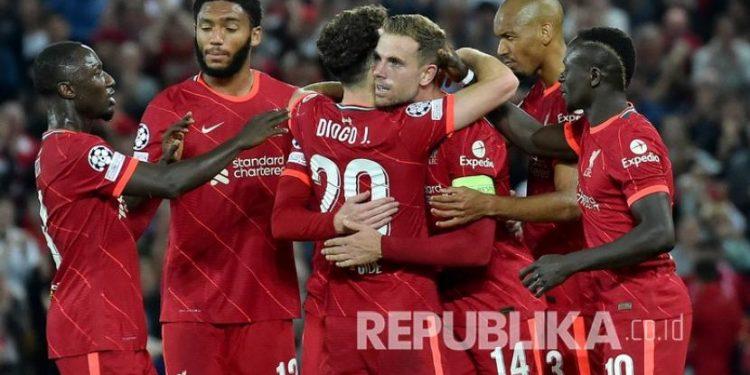 Para pemain Liverpool (ilustrasi).
