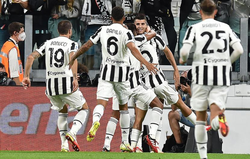 Para pemain Juventus (ilustrasi).