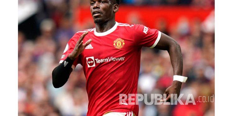 Gelandang Manchester United Paul Pogba