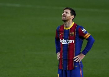 Lionel Messi while still playing for Barcelona.